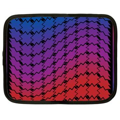 Colorful Red & Blue Gradient Background Netbook Case (xl)