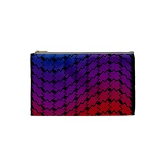 Colorful Red & Blue Gradient Background Cosmetic Bag (small)