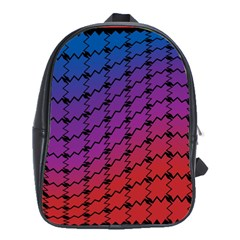 Colorful Red & Blue Gradient Background School Bags(large)