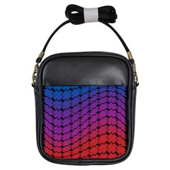 Colorful Red & Blue Gradient Background Girls Sling Bags