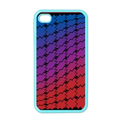 Colorful Red & Blue Gradient Background Apple Iphone 4 Case (color)