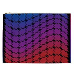 Colorful Red & Blue Gradient Background Cosmetic Bag (XXL)