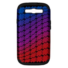 Colorful Red & Blue Gradient Background Samsung Galaxy S Iii Hardshell Case (pc+silicone)