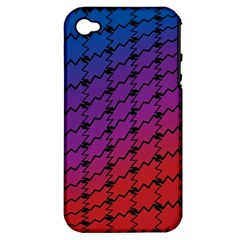 Colorful Red & Blue Gradient Background Apple iPhone 4/4S Hardshell Case (PC+Silicone)