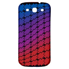 Colorful Red & Blue Gradient Background Samsung Galaxy S3 S III Classic Hardshell Back Case