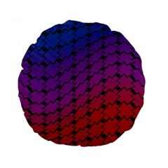Colorful Red & Blue Gradient Background Standard 15  Premium Round Cushions
