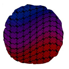 Colorful Red & Blue Gradient Background Large 18  Premium Round Cushions