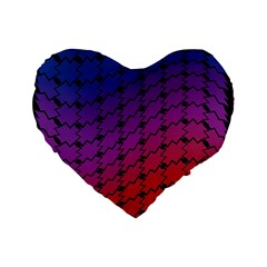 Colorful Red & Blue Gradient Background Standard 16  Premium Heart Shape Cushions
