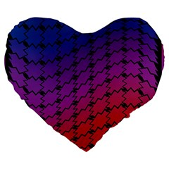 Colorful Red & Blue Gradient Background Large 19  Premium Heart Shape Cushions