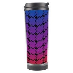 Colorful Red & Blue Gradient Background Travel Tumbler