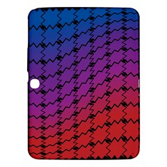 Colorful Red & Blue Gradient Background Samsung Galaxy Tab 3 (10.1 ) P5200 Hardshell Case