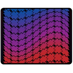 Colorful Red & Blue Gradient Background Double Sided Fleece Blanket (Medium)