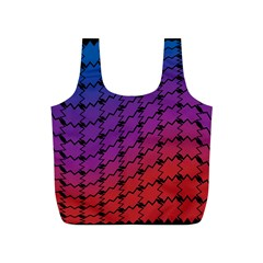 Colorful Red & Blue Gradient Background Full Print Recycle Bags (S)