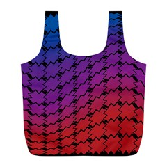 Colorful Red & Blue Gradient Background Full Print Recycle Bags (l)