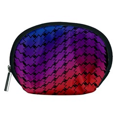 Colorful Red & Blue Gradient Background Accessory Pouches (medium)