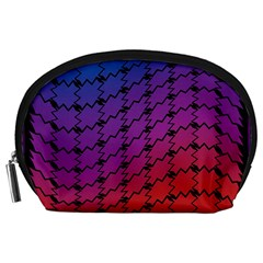 Colorful Red & Blue Gradient Background Accessory Pouches (Large)