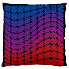 Colorful Red & Blue Gradient Background Standard Flano Cushion Case (One Side)