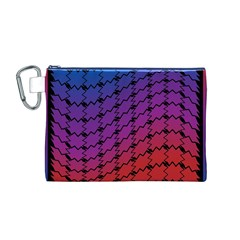 Colorful Red & Blue Gradient Background Canvas Cosmetic Bag (M)