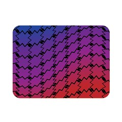 Colorful Red & Blue Gradient Background Double Sided Flano Blanket (mini)