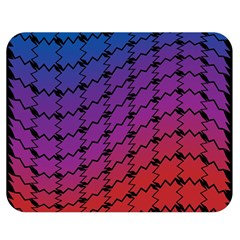 Colorful Red & Blue Gradient Background Double Sided Flano Blanket (Medium)