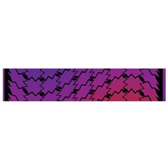 Colorful Red & Blue Gradient Background Flano Scarf (Small)