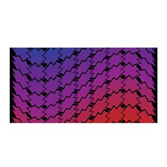 Colorful Red & Blue Gradient Background Satin Wrap