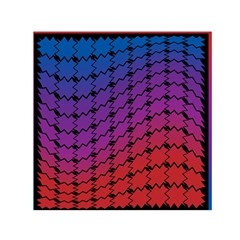 Colorful Red & Blue Gradient Background Small Satin Scarf (Square)