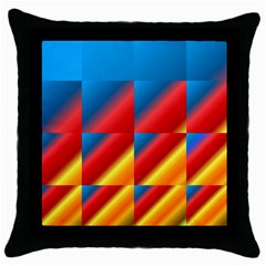 Gradient Map Filter Pack Table Throw Pillow Case (Black)