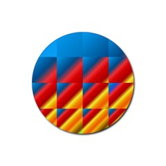 Gradient Map Filter Pack Table Rubber Round Coaster (4 Pack)