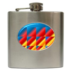 Gradient Map Filter Pack Table Hip Flask (6 Oz)