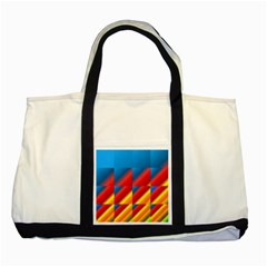 Gradient Map Filter Pack Table Two Tone Tote Bag