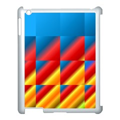 Gradient Map Filter Pack Table Apple iPad 3/4 Case (White)