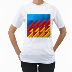 Gradient Map Filter Pack Table Women s T-Shirt (White)