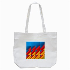 Gradient Map Filter Pack Table Tote Bag (White)