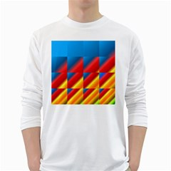 Gradient Map Filter Pack Table White Long Sleeve T Shirts