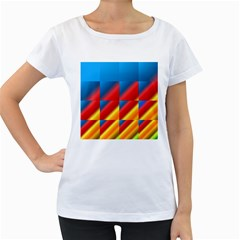 Gradient Map Filter Pack Table Women s Loose-Fit T-Shirt (White)
