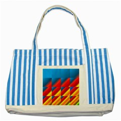 Gradient Map Filter Pack Table Striped Blue Tote Bag