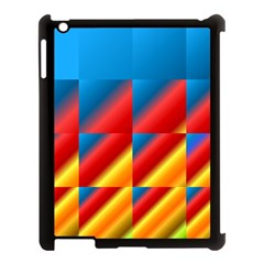 Gradient Map Filter Pack Table Apple iPad 3/4 Case (Black)