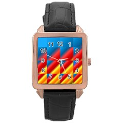 Gradient Map Filter Pack Table Rose Gold Leather Watch