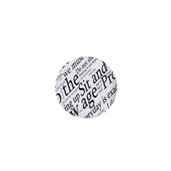 Abstract Minimalistic Text Typography Grayscale Focused Into Newspaper 1  Mini Magnets