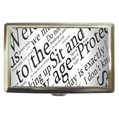 Abstract Minimalistic Text Typography Grayscale Focused Into Newspaper Cigarette Money Cases