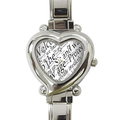 Abstract Minimalistic Text Typography Grayscale Focused Into Newspaper Heart Italian Charm Watch