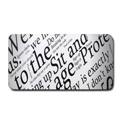 Abstract Minimalistic Text Typography Grayscale Focused Into Newspaper Medium Bar Mats