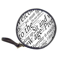 Abstract Minimalistic Text Typography Grayscale Focused Into Newspaper Classic 20 Cd Wallets