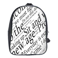Abstract Minimalistic Text Typography Grayscale Focused Into Newspaper School Bags(large)