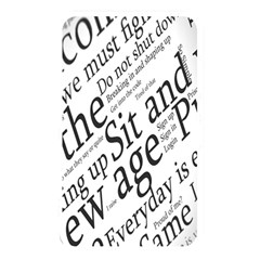 Abstract Minimalistic Text Typography Grayscale Focused Into Newspaper Memory Card Reader