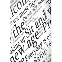 Abstract Minimalistic Text Typography Grayscale Focused Into Newspaper 5 5  X 8 5  Notebooks