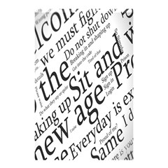 Abstract Minimalistic Text Typography Grayscale Focused Into Newspaper Shower Curtain 48  X 72  (small)