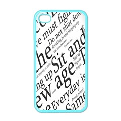 Abstract Minimalistic Text Typography Grayscale Focused Into Newspaper Apple iPhone 4 Case (Color)