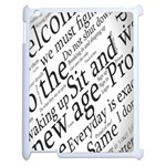 Abstract Minimalistic Text Typography Grayscale Focused Into Newspaper Apple iPad 2 Case (White) Front